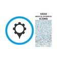 gps settings rounded icon with 1000 bonus icons vector image vector image