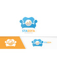 graph and sofa logo combination diagram vector image vector image