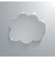 Gray eco glossy glass cloud icon vector image