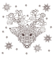 Hand drawn doodle outline deer head vector image vector image