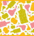 hard cider seamless pattern vector image vector image