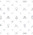 holiday icons pattern seamless white background vector image vector image