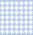 hounds tooth seamless blue pattern vector image