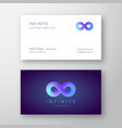 infinity symbol with modern gradient abstract vector image