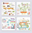 infographics elements symbols and icons retro vector image vector image