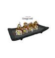 japanese traditional food unagi roll sushi vector image vector image