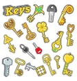 Keys Decorative Elements for Scrapbook vector image