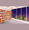 library bookshelves interior vector image