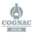 luxury cognac logo simple gray style vector image vector image