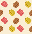 macarons seamless colored cartoon pattern vector image
