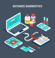 medical diagnostics isometric set vector image vector image