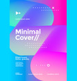 minimal cover design with halftone gradient blend vector image vector image