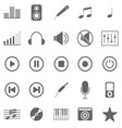 Music icons on white background vector image vector image