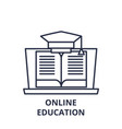 online education line icon concept online vector image vector image