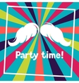 Party time background with hand draw hipster vector image