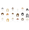 people faces set vector image vector image