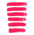 Pink ink brush strokes vector image vector image