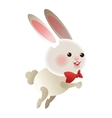 Rabbit cartoon icon vector image