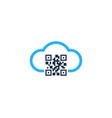sky barcode logo icon design vector image