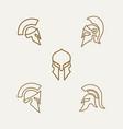 spartan sparta minimalist line art logo vector image vector image