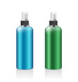 spray bottle blue and green products vector image