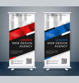 standee design for your business presentation vector image vector image