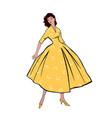 stylish fashion dressed girls 1950s 1960s style vector image vector image