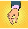 take contribution gesture hand business concept vector image vector image