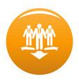 teamwork icon orange vector image vector image