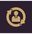 The management and rotation icon Management and vector image vector image