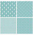 tile pattern with white print on mint background vector image vector image