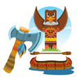 totem ancient beliefs and cults vector image vector image