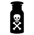 toxic poison bottle with death sign skull vector image