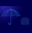 umbrella opened from the rain from futuristic vector image vector image