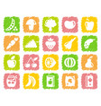 vegetables and fruit icons vector image vector image