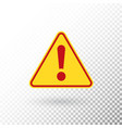 warning symbol attention button red exclamation vector image