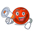 with megaphone mars planet character cartoon vector image vector image