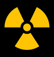 yellow radiation sign vector image vector image