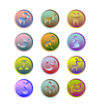 Zodiac Signs on round buttons various colors vector image