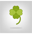 lucky clover with four leaves vector image