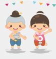thai new year Songkarn festival vector image
