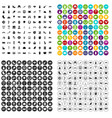 100 europe icons set variant vector image vector image
