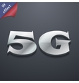 5G icon symbol 3D style Trendy modern design with vector image vector image
