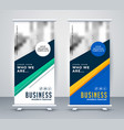 abstract geometric rollup banner design vector image