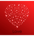 abstract water heart vector image