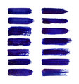 abstract watercolor brush strokes isolated vector image vector image