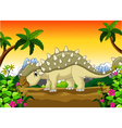 Ankylosaurus Dinosaur cartoon for your design vector image vector image