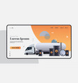 automotive fuel tanker realistic black metal vector image vector image