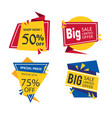 banner set of flat sale design image vector image vector image