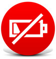 battery low symbols vector image